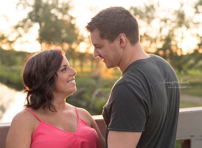 Sunset couples engagement session Fish Creek Park in Calgary Family Photographers